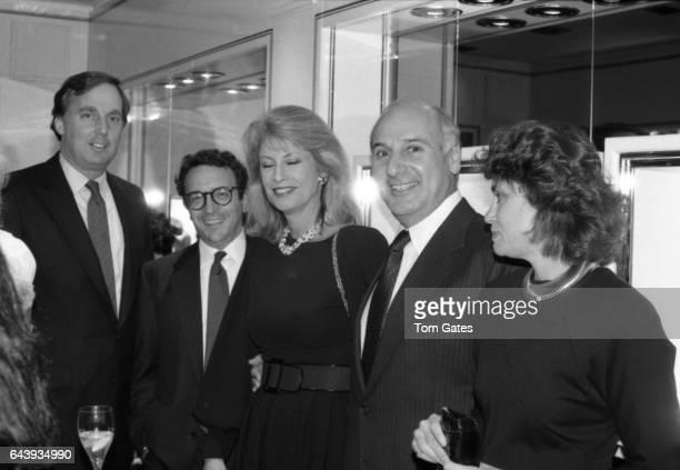 Robert Trump Barry Friedberg Lauren Veronis John Veronis and Sharon Hoge attend the PEN American awards dinner at the Pierre Hotel in October 1988 in...