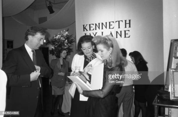 Robert Trump Chessy Raynor Blaine Trump attend the Lenox Hill Neighborhood Association Party in April 1990 in New York New York