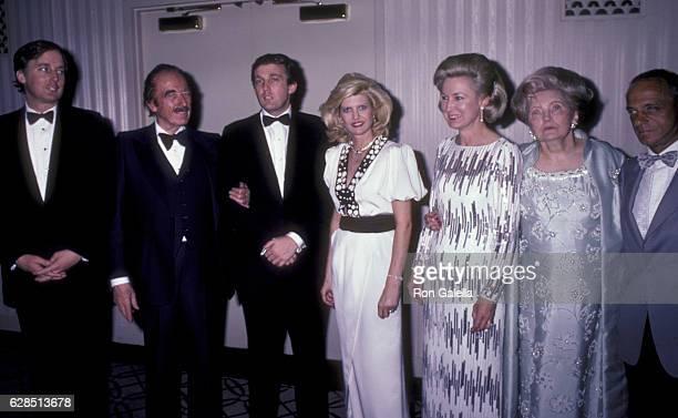 Robert Trump Fred Trump Donald Trump Ivana Trump Elizabeth Trump Mary Anne Trump and Roy Cohn attend 38th Annual Horatio Alger Awards Dinner on May...