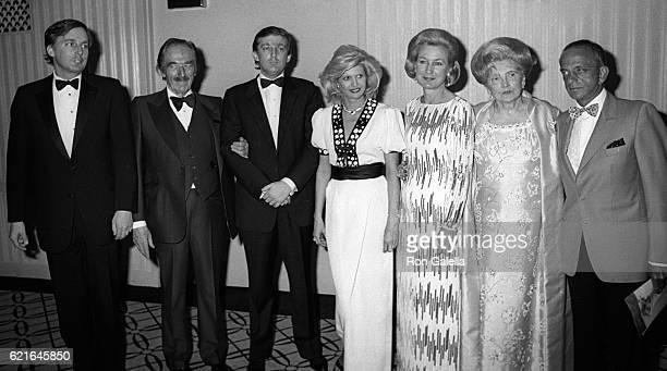 Robert Trump Fred Trump Donald Trump Ivanka Trump Elizabeth Trump Mary Anne Trump and Roy Cohn attend 38th Annual Horatio Alger Awards Dinner on May...