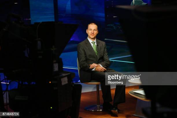 Robert Van Brugge chief executive officer of Sanford C Bernstein Co listens during a Bloomberg Television interview in New York US on Wednesday Nov...