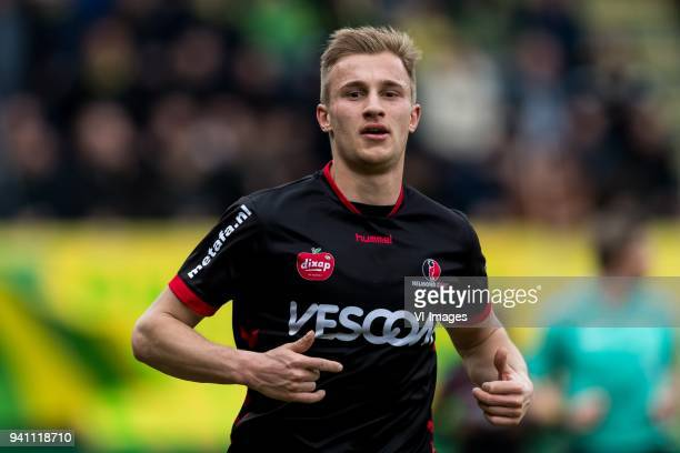 Robert van Koesveld of Helmond Sport during the Jupiler League match between Fortuna Sittard and Helmond Sport at the Fortuna Sittard Stadium on...