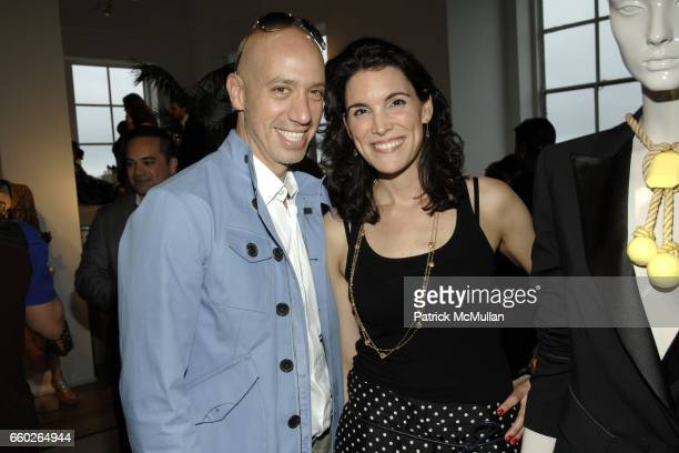 Robert Verdi and Amy Erbesfeld attend LOUIS VUITTON CRUISE 2010 COLLECTION PREVIEW at 463 West Street Penthouse on June 18 2009 in New York City