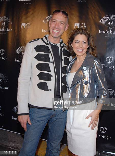Robert Verdi and Bobbie Thomas during Buddha Bar 1st Anniversary in New York City at Buddha Bar in New York, New York, United States.