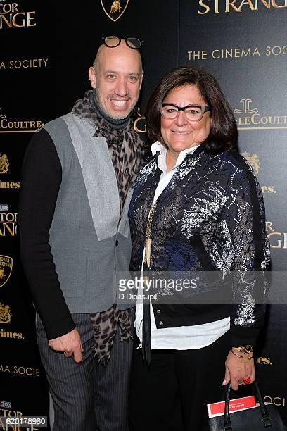 Robert Verdi and Fern Mallis attend a screening of Marvel Studios' Doctor Strange hosted by Lamborghini with The Cinema Society JaegerLeCoultre and...