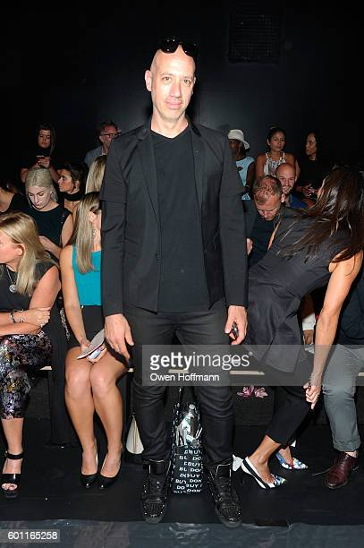 Robert Verdi attends the Cushnie et Ochs front row during New York Fashion Week: The Shows at The Dock, Skylight at Moynihan Station on September 9,...