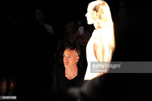 Robert Verdi attends the Reem Acra fashion show during MercedesBenz Fashion Week Spring 2015 at The Salon at Lincoln Center on September 8 2014 in...