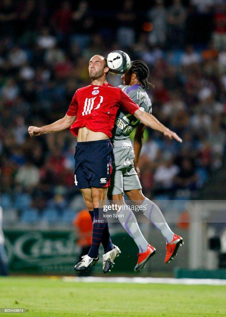 Robert VITTEK / Etienne CAPOUE - - Lille / Toulouse - 3eme journee de Ligue 1 - Stade Lille Metropole -