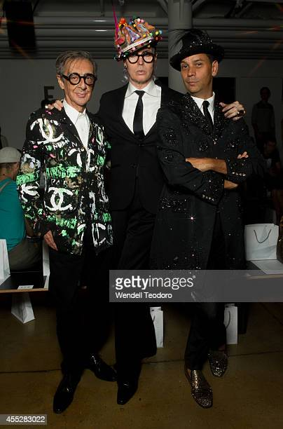 Robert W Richards Patrick McDonald and James Aguiar attends The Blonds during MADE Fashion Week Spring 2015 at Milk Studios on September 10 2014 in...