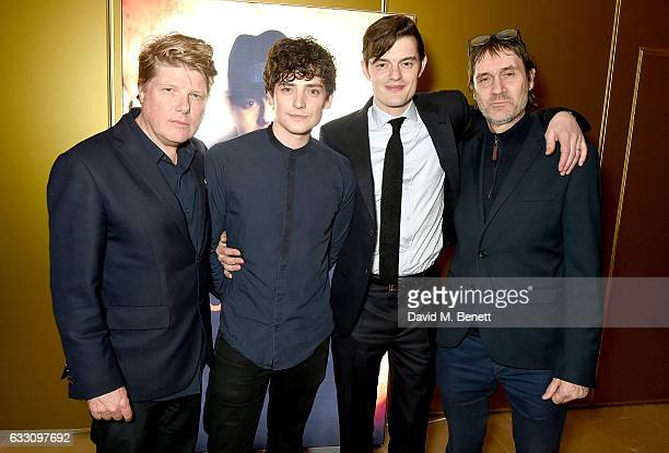 Robert Wade Aneurin Barnard Sam Riley and Neal Purvis attend the world premiere of BBC One's SSGB at the May Fair Hotel on January 30 2017 in London...