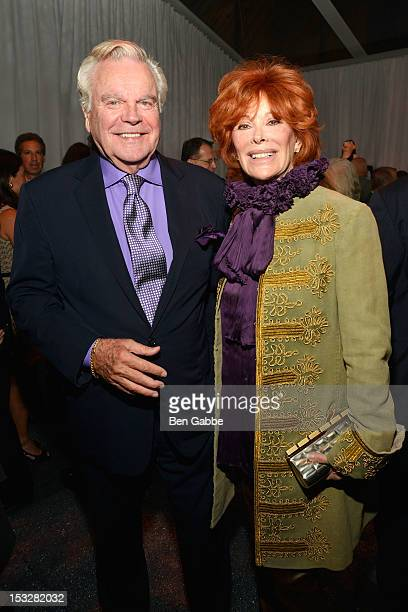 Robert Wagner and Jill St. John attend the Studio in a School's 35th Anniversary gala at Seagram Building on October 2, 2012 in New York City.