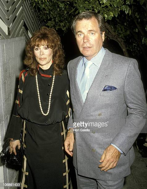 Robert Wagner and Jill St John during Robert Wagner and Jill St John Sighting at Spago's Restaurant in Hollywood May 10 1986 at Spago's Restaurant in...