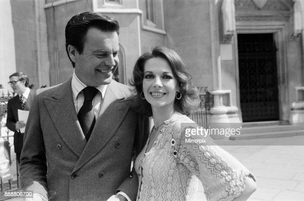 Robert Wagner and Natalie Wood photographed in London the couple have a libel case taking place in the law courts 22nd June 1976