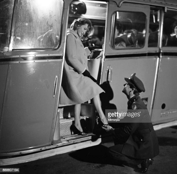 Robert Wagner and Shirley Anne Field filming the War Lover at RAF Bovingdon aerodrome After returning to catch a coach Shirley loses a shoe which...