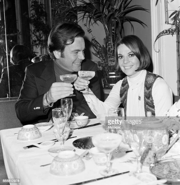 Robert Wagner and wife Natalie Wood drink champagne at the Singing Bamboo Oriental Restaurant in Kensington 9th December 1972