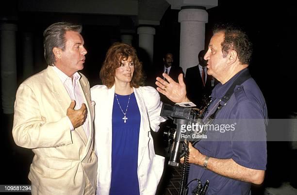 Robert Wagner, Jill St. John, and Ron Galella during Universal Studios Private Party at the Grand Cypress Resort - June 6, 1990 at Grand Cyprus...