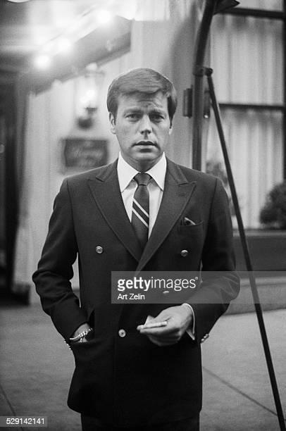 Robert Wagner outside the Regency Hotel circa 1970 New York