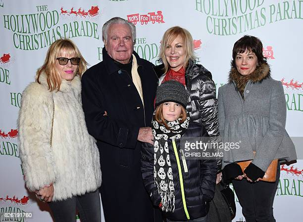 Robert Wagner with daughters and grandson arrive at the 85th annual Hollywood Christmas parade on Hollywood Boulevard in Hollywood on November 27...