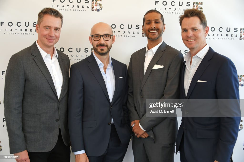 Robert Walak, President of Focus Features, Peter Kujawski, Chairman of Focus Features, Abhijay Prakash, Focus Features COO, and Jason Cassidy, President of Marketing for Focus Features, attend Focus Features' 15th Anniversary party at the Cannes Film Festival at Baoli Beach on May 19, 2017 in Cannes, France.