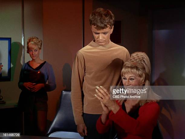 Robert Walker Jr as Charlie Evans Grace Lee Whitney as Yeoman Janice Rand in in the STAR TREK episode Charlie X Season 1 episode 2 Original air date...