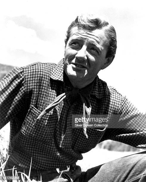 Robert Walker , US actor, in Western costume with a neckerchief in a publicity still issued for the film, 'Vengeance Valley', 1958. The Western,...