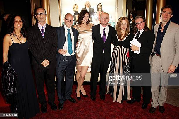 Robert Weide Toby Young Margo Stilley Simon Pegg Gillian Anderson attend the premiere of 'How to Lose Friends and Alienate People' at the Odeon...