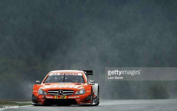 Robert Wickens of Canada and STIHL Mercedes AMG drives during the seventh round of the DTM 2013 German Touring Car Championship at Nuerburgring on...