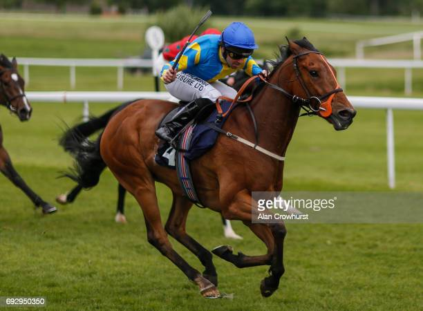 Robert Winston riding Admirable Art win The Vanguardia Consulting Handicap Stakes at Chepstow racecourse on June 6 2017 in Chepstow Wales