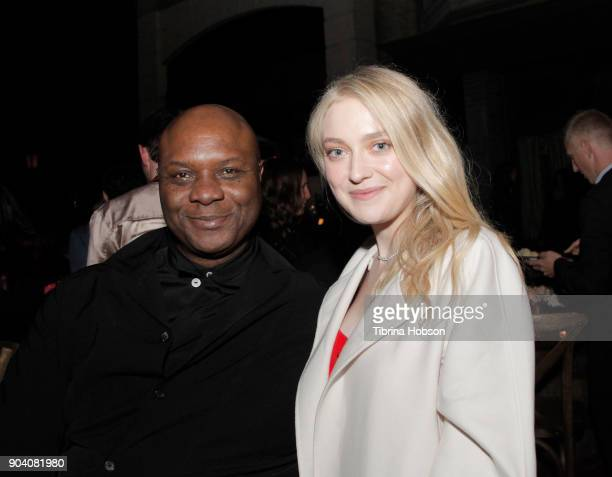 Robert Wisdom and Dakota Fanning attend the premiere of TNT's 'The Alienist' after party on January 11 2018 in Los Angeles California