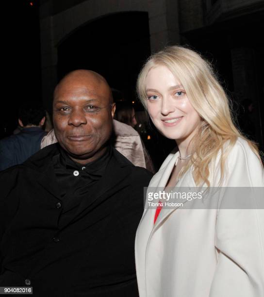 Robert Wisdom and Dakota Fanning attend the premiere of TNT's 'The Alienist' after party on January 11, 2018 in Los Angeles, California.