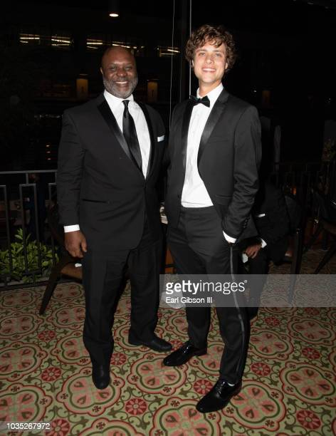 Robert Wisdom and Douglas Smith attend the TNT And TBS Emmy After-Party 2018 at Dama on September 17, 2018 in Los Angeles, California.