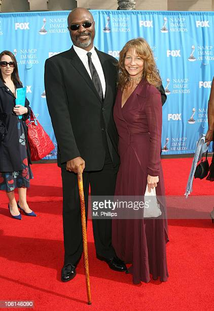 Robert Wisdom and guest during 38th Annual NAACP Image Awards - Arrivals at Shrine Auditorium in Los Angeles, California, United States.