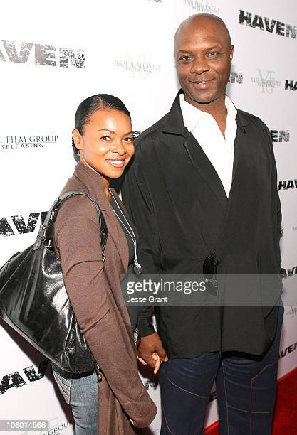 """Robert Wisdom and guest during """"Haven"""" Los Angeles Premiere - Red Carpet at ArcLight in Hollywood, California, United States."""