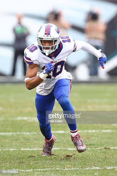 Robert Woods of the Buffalo Bills in action during the game against the Philadelphia Eagles at Lincoln Financial Field on December 13 2015 in...