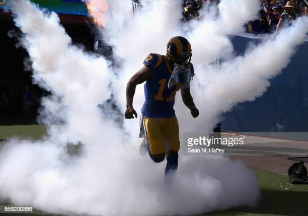 Robert Woods of the Los Angeles Rams takes the field prior to a game against the Seattle Seahawks at Los Angeles Memorial Coliseum on October 8 2017...