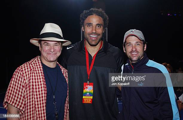 Robert Wuhl Rick Fox and Patrick Dempsey during HBO Presents the 1st All Star Family Sports Jam to Benefit Children's Hospital of Los Angeles in...