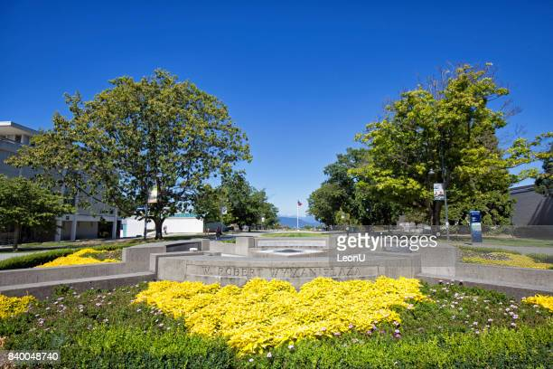 w. robert wyman plaza in ubc, vancouver, canada - ubc stock pictures, royalty-free photos & images