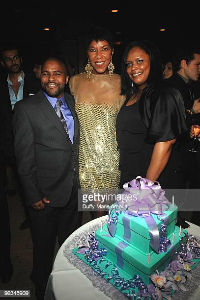 Robert Yancy Natalie Cole and Felanice Yancy attend Natalie Cole's 60th Birthday Party on February 1 2010 in Beverly Hills California