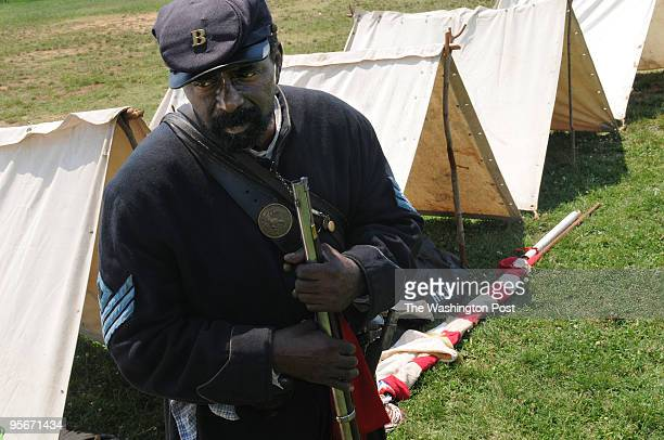 Robert Young portraying a 1st sargeant in the 54th Massachusetts regiment helped put up camp at Garrison Elementary School that used to be the former...