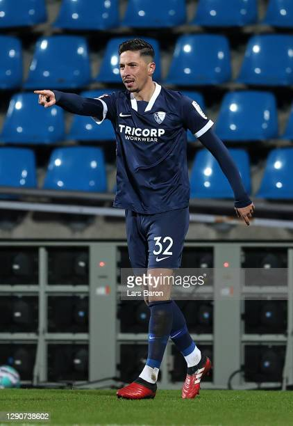 Robert Zulj of VfL Bochum celebrates after scoring their sides first goal during the Second Bundesliga match between VfL Bochum 1848 and SC Paderborn...