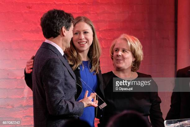Roberta A Kaplan and Chelsea Clinton attend the GMHC 35th Anniversary Spring Gala at Highline Stages on March 23 2017 in New York City