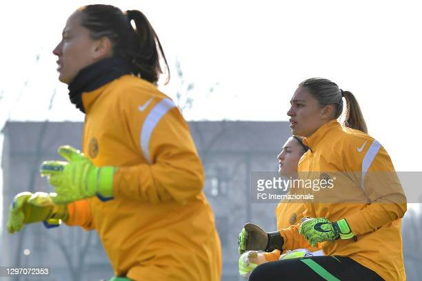 Roberta Aprile of FC Internazionale looks on before the Women Serie A match between FC Internazionale and Juventus at Suning Youth Development Centre...