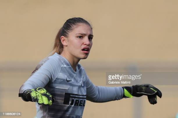 Roberta Aprile of FC Internazionale women in action during the Women Serie A match between ACF Fiorentina and FC Internazionale at Stadio Artemio...