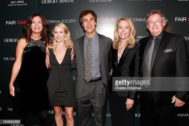 Roberta Armani actress Naomi Watts Director Doug Liman Valerie Plame Wilson and Joseph Wilson attend Giorgio Armani The Cinema Society's screening of...