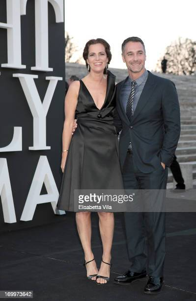 Roberta Armani and actor Raoul Bova attend 'One Night Only' Roma hosted by Giorgio Armani at Palazzo Civilta Italiana on June 5 2013 in Rome Italy