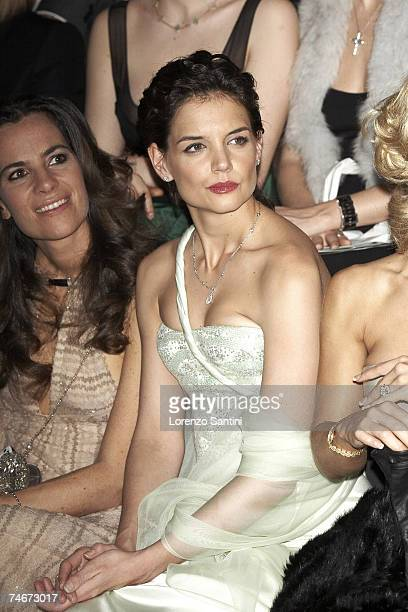 Roberta Armani and Katie Holmes at the Musee d'Art Moderne Palais De Tokyo in Paris France