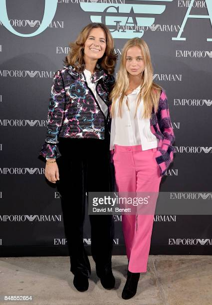 Roberta Armani and Lady Amelia Windsor attend the Emporio Armani Show on September 17 2017 in London England