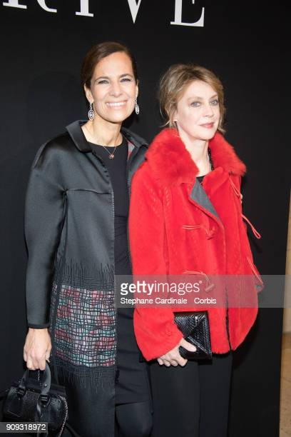 Roberta Armani and Margherita Buy attend the Giorgio Armani Prive Haute Couture Spring Summer 2018 show as part of Paris Fashion Week January 23 2018...