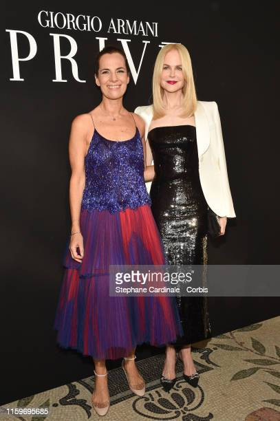 Roberta Armani and Nicole Kidman attend the Giorgio Armani Prive Haute Couture Fall/Winter 2019 2020 show as part of Paris Fashion Week on July 02...