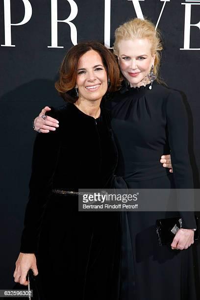 Roberta Armani and Nicole Kidman dressed in Armani attend the Giorgio Armani Prive Haute Couture Spring Summer 2017 show as part of Paris Fashion...